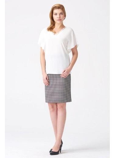 NaraMaxx Dantel Detaylı Bluz Beyaz